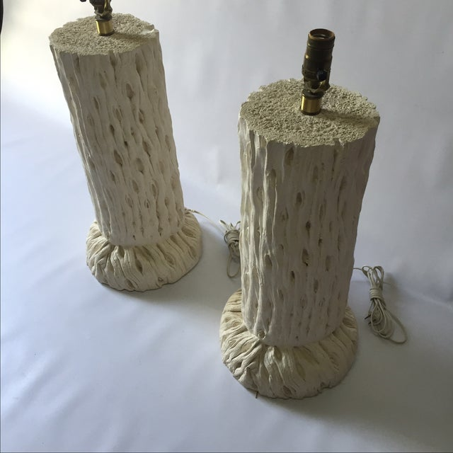John Dickinson Style Tree Trunk Lamps - A Pair For Sale - Image 4 of 7