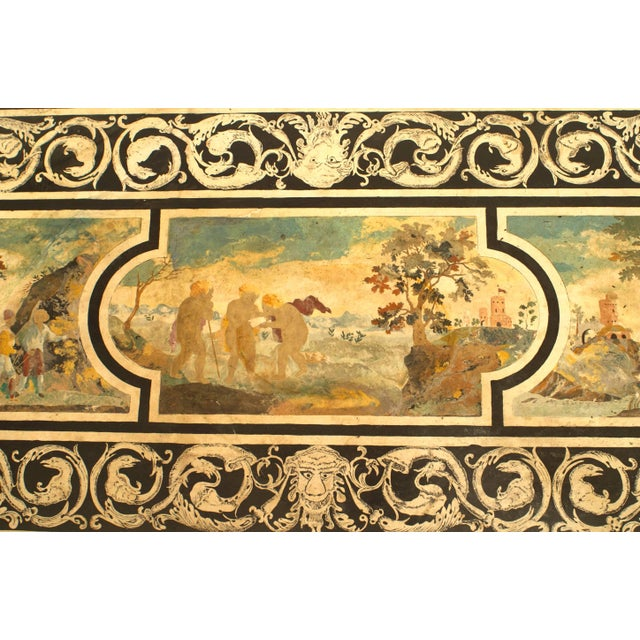 Contemporary Coffee Table With 18th C. Italian Neoclassical Top For Sale - Image 4 of 6