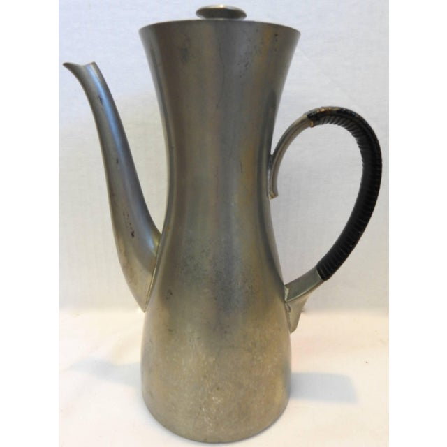 Mid-Century Modern Midcentury Royal Holland Four-Piece Pewter Tea Coffee Set For Sale - Image 3 of 9