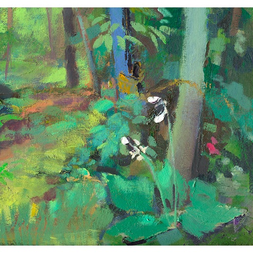 """Impressionist Amy Griffith Colley """"Path in the Woods"""" Print For Sale - Image 3 of 4"""