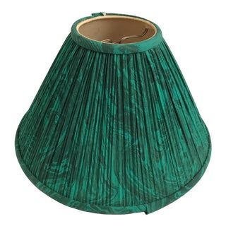 Vintage Malachite Green Fabric Lamp Shade