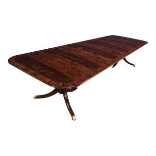 Traditional Leighton Hall Made-To-Order Mahogany Dining Table For Sale