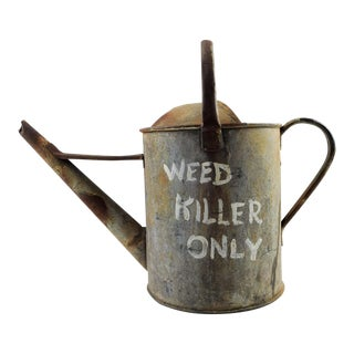 "Vintage ""Weed Killer Only"" Metal Watering Can For Sale"