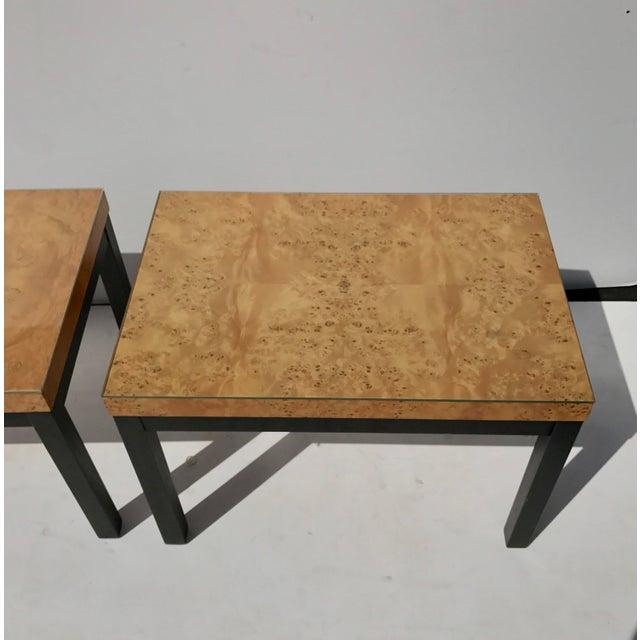 Milo Baughman Burl Wood Side/ End Tables - A Pair - Image 3 of 10