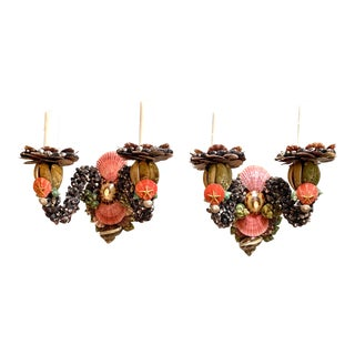 Two Light Shell Sconces - a Pair For Sale