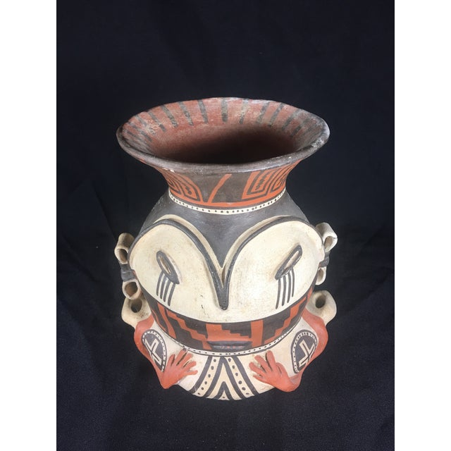 Boho Chic Mid-Century Peruvian Pottery Vase For Sale - Image 3 of 8