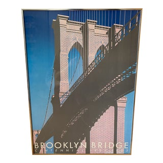 1983 Limited Edition Brooklyn Bridge Centennial Poster For Sale