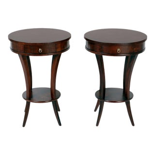 Round End Tables - A Pair For Sale