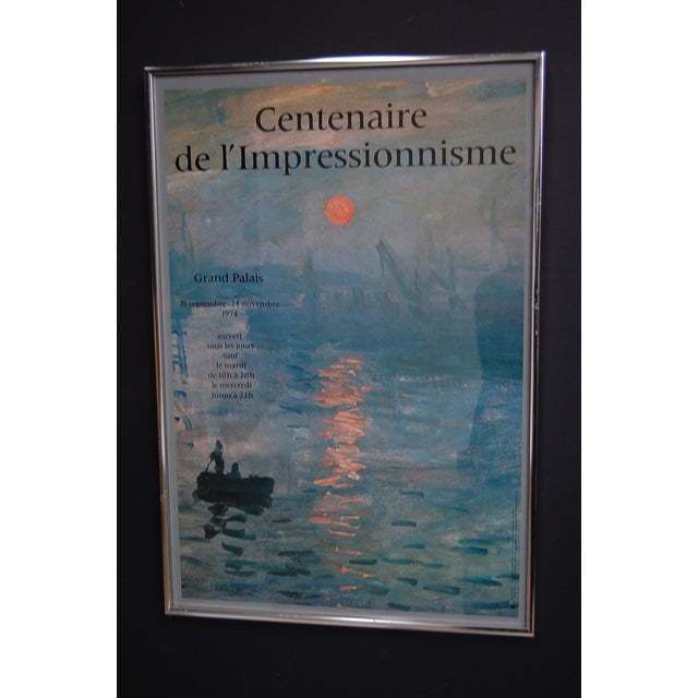 Dreamy framed Impressionist exhibition poster from an exhibit held at the Grand Palais in Paris. Dated 1974 Excellent...