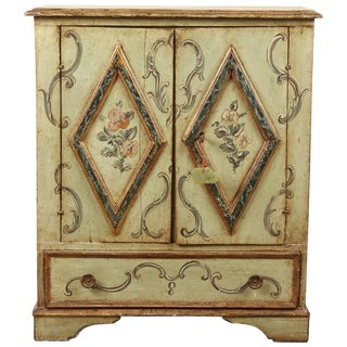 Italian 18th Century Painted Side Cabinet
