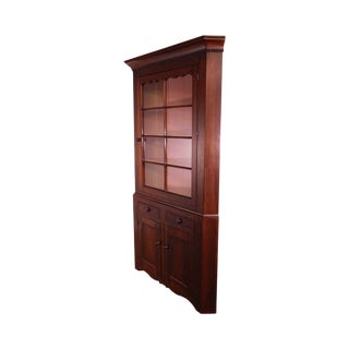 Antique 19th Century Farm House Country Corner Cabinet For Sale