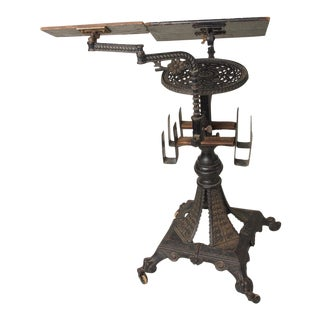 19th Century Victorian Reading Stand and Dictionary Holder For Sale