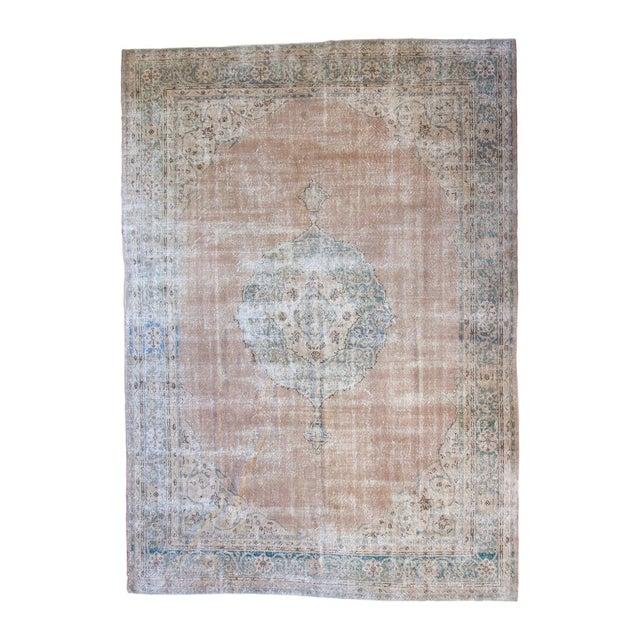 "Vintage Turkish Oushak Carpet - 9'6"" x 13' - Image 1 of 8"