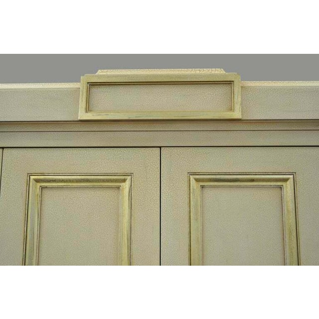 French Neoclassical Louis XVI Style Cream & Gold Painted Bar Cabinet by Decca A For Sale - Image 10 of 11