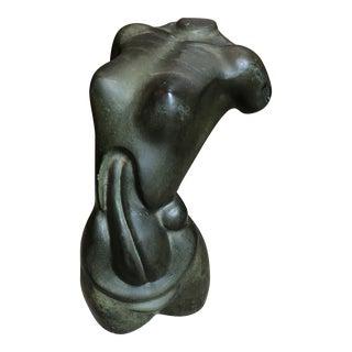 1980s Somchai Female Bronze Torso Sculpture For Sale