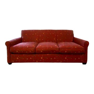 Crate and Barrel Custom Upholstered Sofa For Sale
