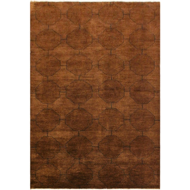 Brown Overdyed Color Reform Donnie Brown/Blue Area Rug - 5'11 X 8'6 For Sale - Image 8 of 8
