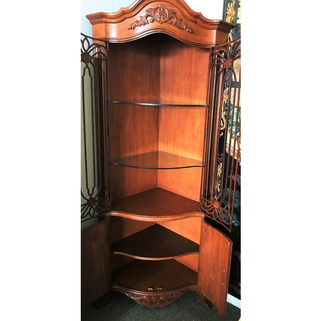 Metal Late 20th Century Corner Cabinet With Iron Doors For Sale - Image 7 of 13