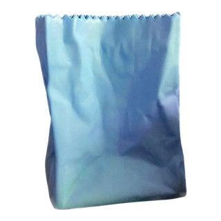 Blue Tappio Wirkalla Mini Paper Bag Vase For Sale