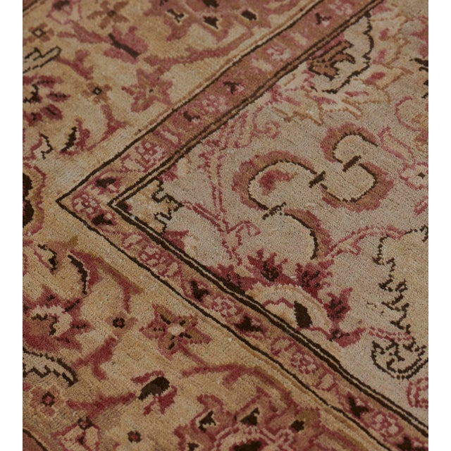 Handwoven Revival Agra Style Wool Rug For Sale In Los Angeles - Image 6 of 13