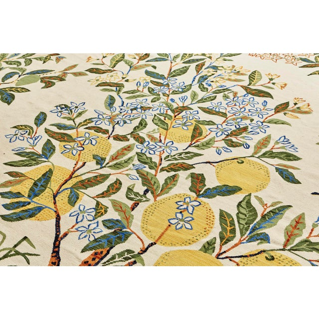 Green Cottage Schumacher Patterson Flynn Martin Citrus Garden Hand-Woven Wool Floral Rug - 9' X 12' For Sale - Image 8 of 10