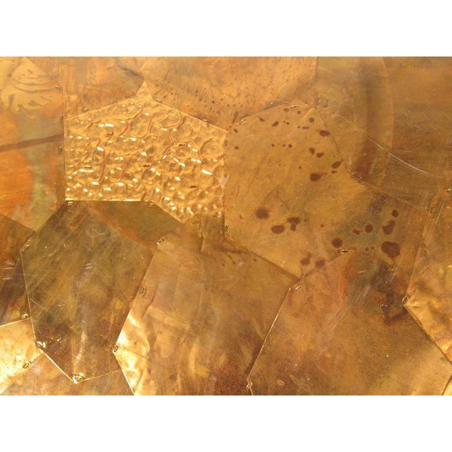 Patchwork Copper and Lucite Sideboard in the Style of Milo Baughman For Sale - Image 10 of 11