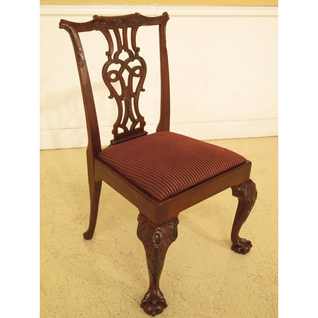Chippendale 1990s Vintage Baker Chippendale Mahogany Dining Room Chairs- Set of 6 For Sale - Image 3 of 13