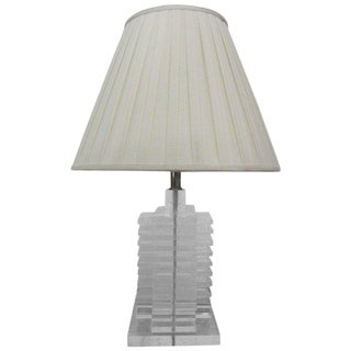 Stacked Lucite Lamp For Sale