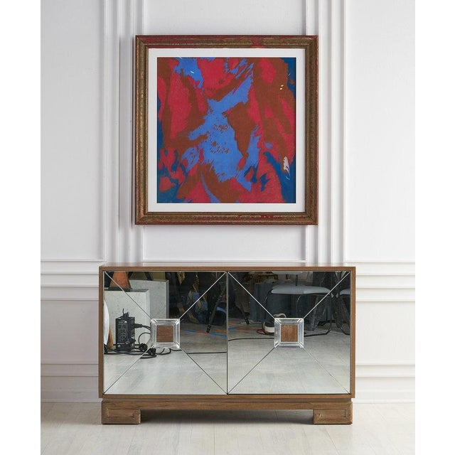 Abstract Colorful Chalk Pastel Abstract by Oscar Murillo For Sale - Image 3 of 8