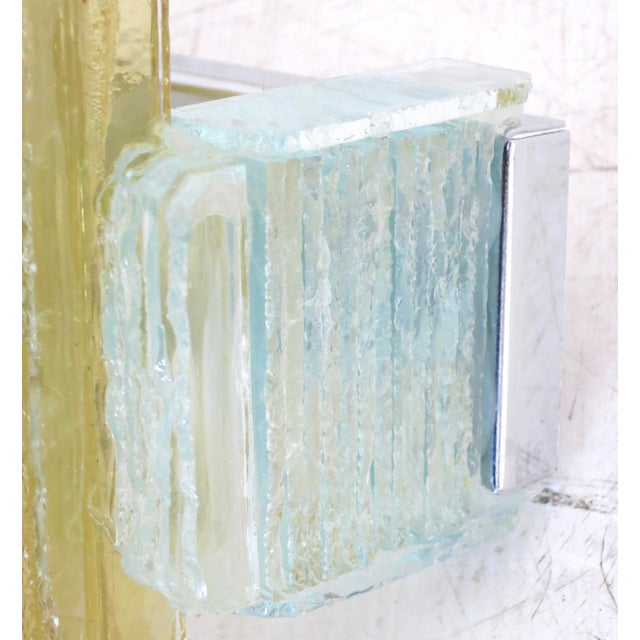Murano Glass Icicles Stacked Sconces by Poliarte - a Pair For Sale In Palm Springs - Image 6 of 9