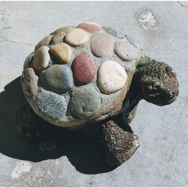A cement based desert tortoise statue to add a touch of fantasy and whimsey to your cactus or rock garden. This fellow has...