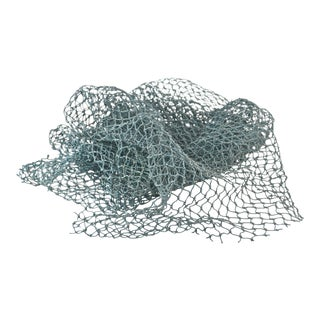 Reduced Shipping! Aqua Teal Marine Fishing Net For Sale