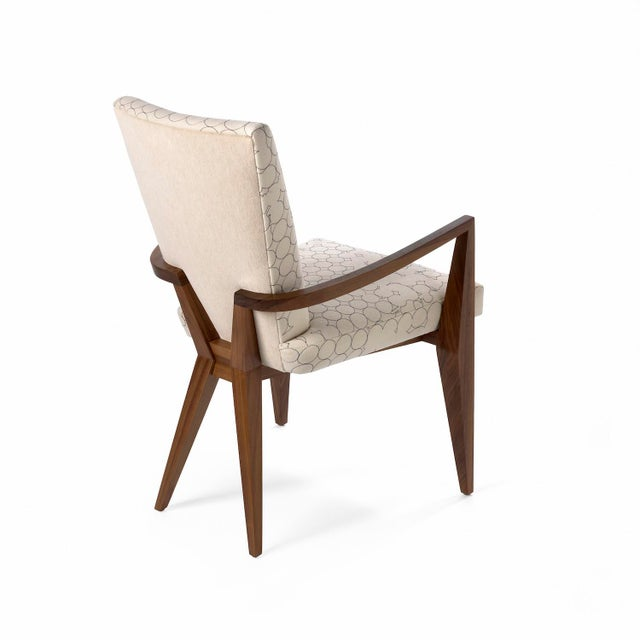 The Vincent Arm dining chair is hand made-to-order in the USA and is available in a variety of woods, stains and finishes.