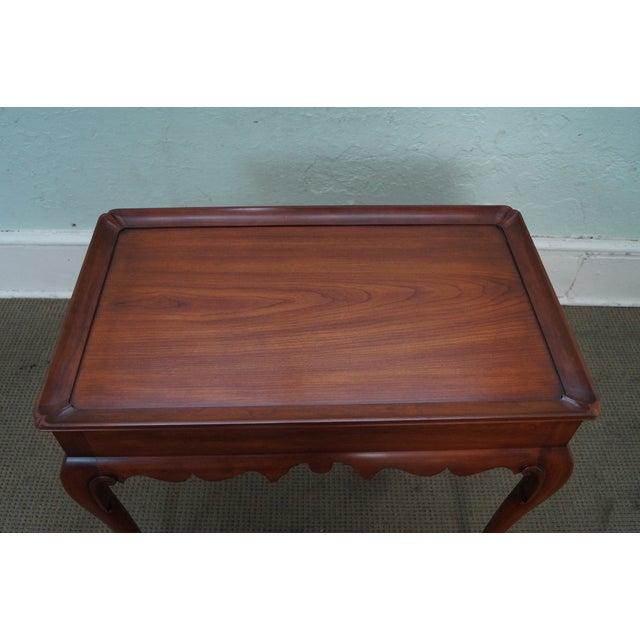 Solid Cherry Queen Anne Tea Table by Henkel Harris - Image 5 of 10
