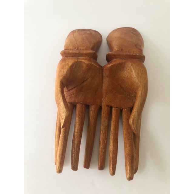 Wooden Hand Card Holder For Sale - Image 4 of 8