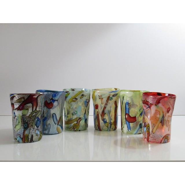 Custom Murano Drinking Glasses - Set of 6 For Sale - Image 9 of 9