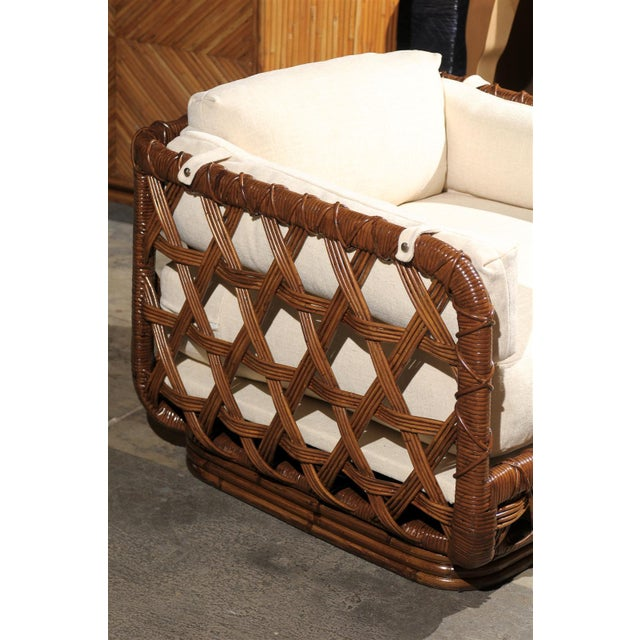 Fantastic Pair of Vintage Rattan Basket Loungers by Danny Ho Fong For Sale In Atlanta - Image 6 of 10