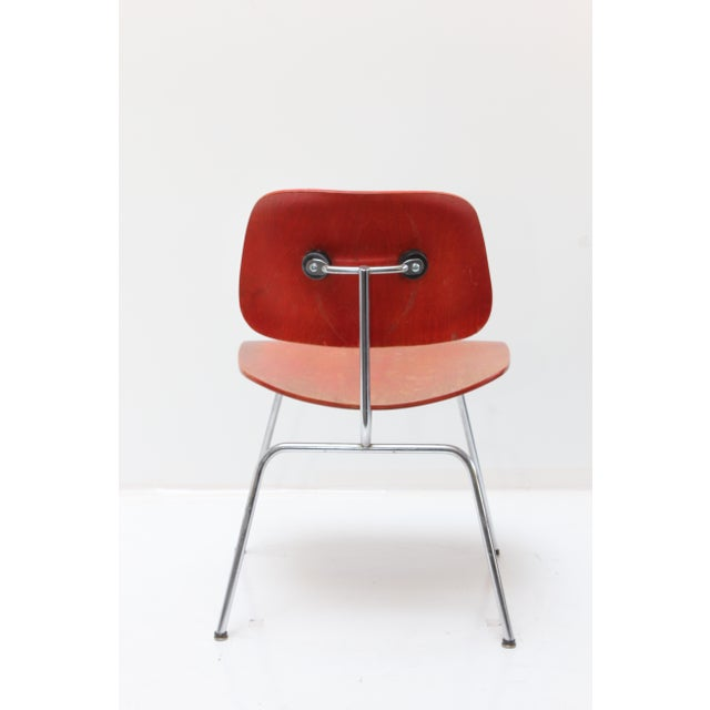 Herman Miller DCM Chair Red Aniline - Image 4 of 11