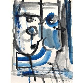 Lesley Grainger ' Tell Me Something ' Original Face Painting For Sale