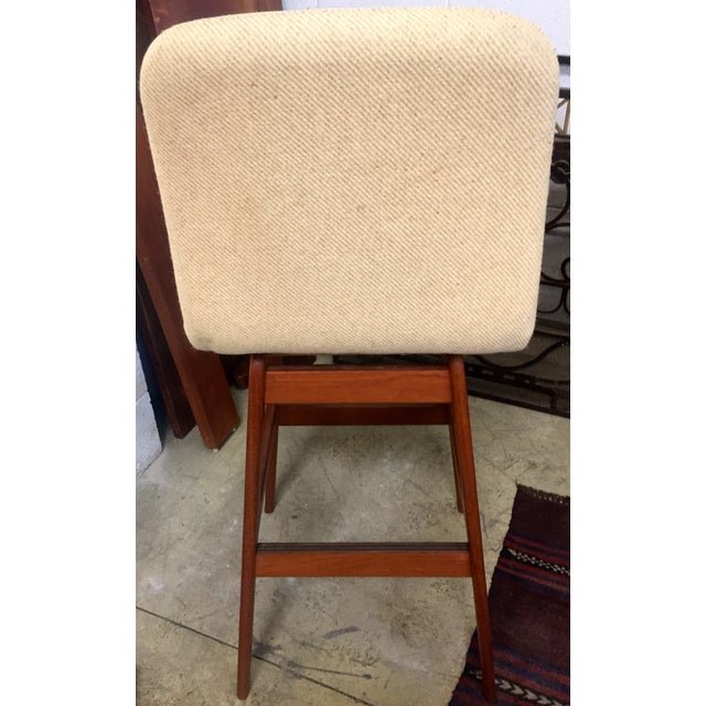 Danish Mid-Century Swivel Bar Stool - Image 4 of 5