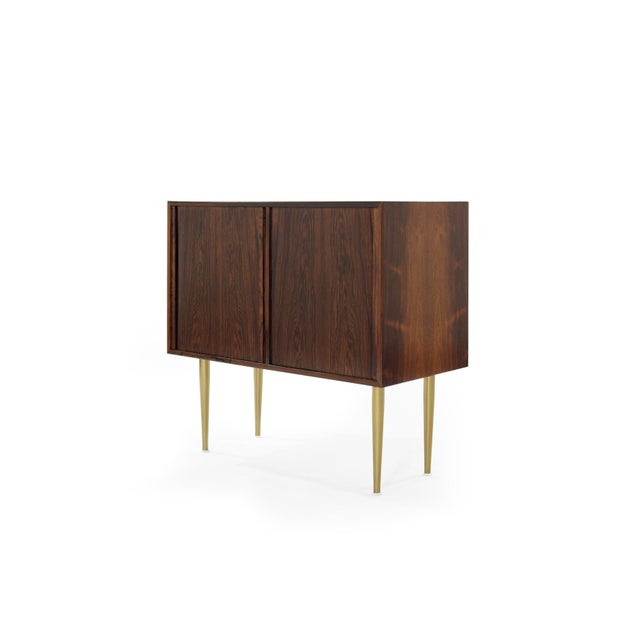 Danish Modern Rosewood Liquor Cabinet, C. 1950s For Sale - Image 4 of 10