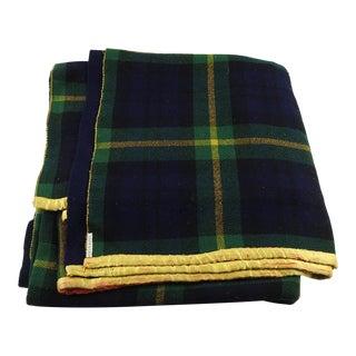 Vintage Double Sided Tartan Blanket Throw
