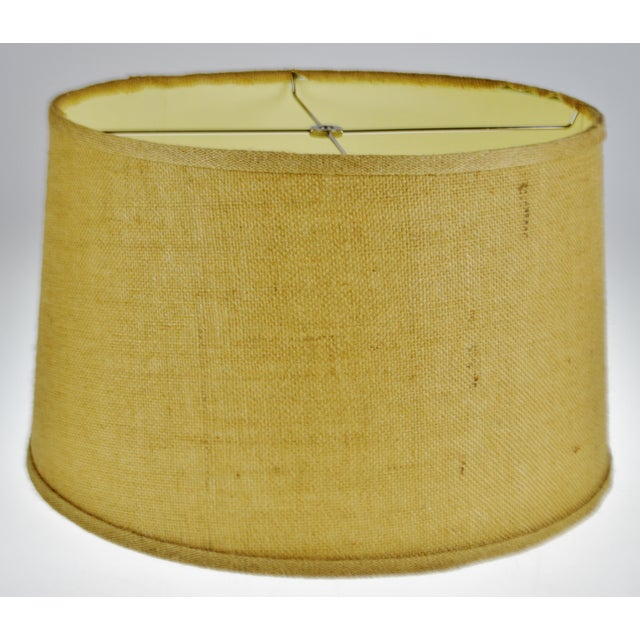 Vintage Grass Cloth Drum lampshade For Sale - Image 13 of 13