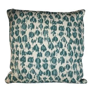 Kim Salmela Aqua Animal Print Pillow For Sale