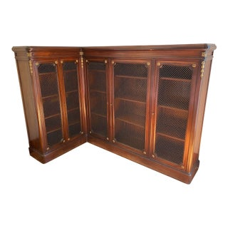 1920s Antique Corner Bookcase For Sale