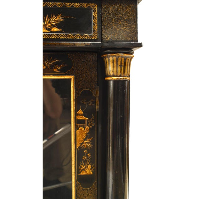 Regency Lacquered Chinoiserie Sideboard For Sale In New York - Image 6 of 8