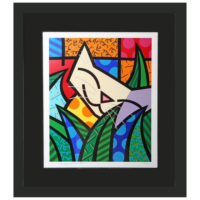 Paper Behind the Bushes, Limited Edition Serigraph by Romero Britto For Sale - Image 7 of 7