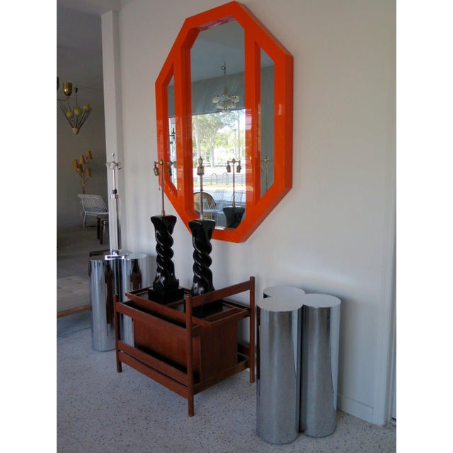 1960s 1960's Stainless Steel Pedestals by Mastercraft-a Pair For Sale - Image 5 of 6