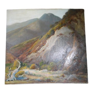 """1930s """"Tujunga Canyon"""" Landscape Oil Painting by Edith Maude Miller For Sale"""