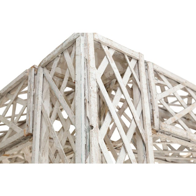 Vintage French Painted Trellis For Sale - Image 9 of 13